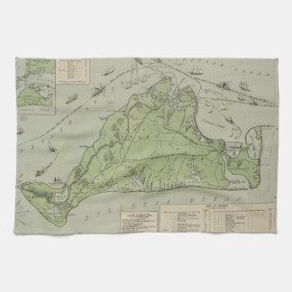 Vintage Map of Marthas Vineyard (1913) Towel