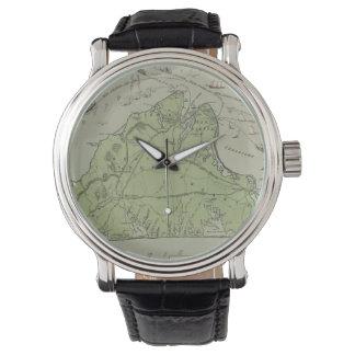 Vintage Map of Marthas Vineyard (1913) Wrist Watch