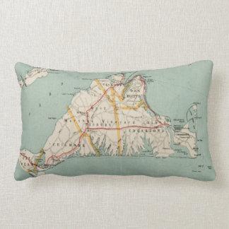 Vintage Map of Martha's Vineyard (1917) Lumbar Pillow