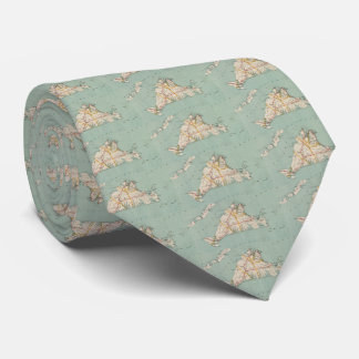 Vintage Map of Martha's Vineyard (1917) Tie