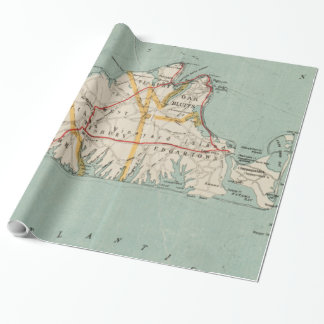 Vintage Map of Martha's Vineyard (1917) Wrapping Paper