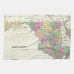 Vintage Map of Maryland (1827) Hand Towels