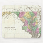 Vintage Map of Maryland (1827) Mouse Pad