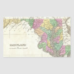 Vintage Map of Maryland (1827) Rectangle Stickers