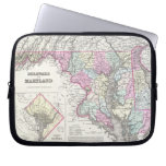 Vintage Map of Maryland (1855) Laptop Computer Sleeve
