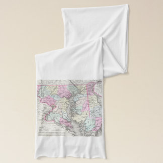 Vintage Map of Maryland (1855) Scarf