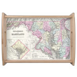 Vintage Map of Maryland (1855) Service Tray