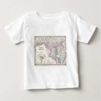 Vintage Map of Maryland (1855) T-shirt