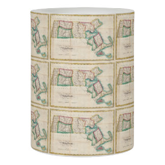 Vintage Map of Massachusetts (1827) 2 Flameless Candle