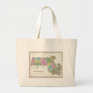 Vintage Map of Massachusetts (1827) Canvas Bags