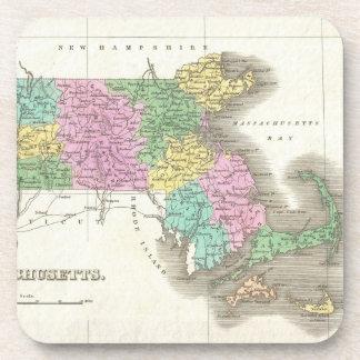 Vintage Map of Massachusetts (1827) Coaster