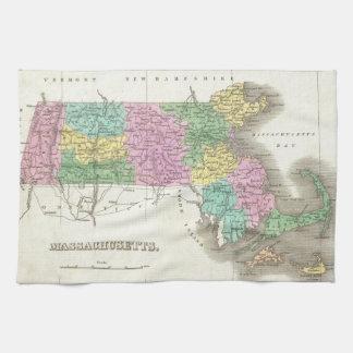Vintage Map of Massachusetts (1827) Hand Towel