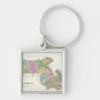 Vintage Map of Massachusetts (1827) Key Chains