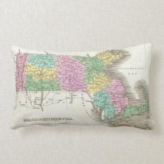 Vintage Map of Massachusetts (1827) Lumbar Pillow
