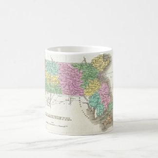 Vintage Map of Massachusetts (1827) Coffee Mugs