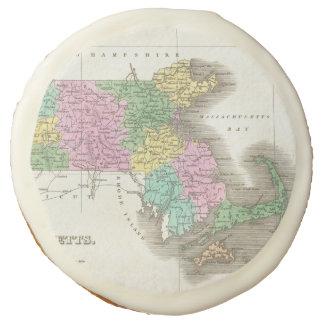 Vintage Map of Massachusetts (1827) Sugar Cookie