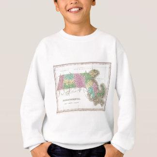 Vintage Map of Massachusetts (1827) Sweatshirt