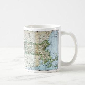Vintage Map of Massachusetts (1905) Classic White Coffee Mug