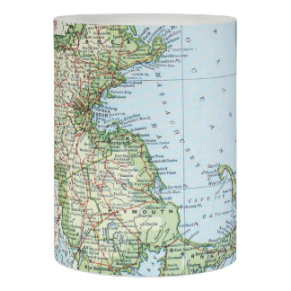 Vintage Map of Massachusetts (1905) Flameless Candle