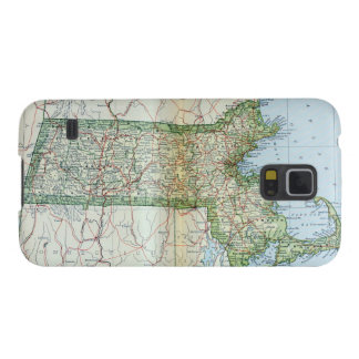 Vintage Map of Massachusetts (1905) Galaxy S5 Covers