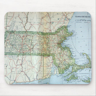 Vintage Map of Massachusetts (1905) Mouse Pad