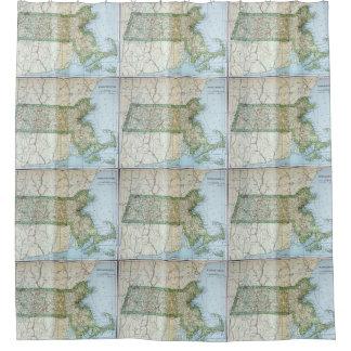 Vintage Map of Massachusetts (1905) Shower Curtain