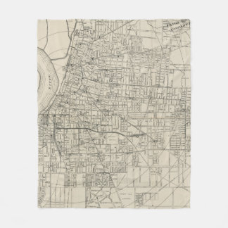 Vintage Map of Memphis Tennessee (1911) Fleece Blanket