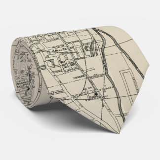 Vintage Map of Memphis Tennessee (1911) Neck Tie