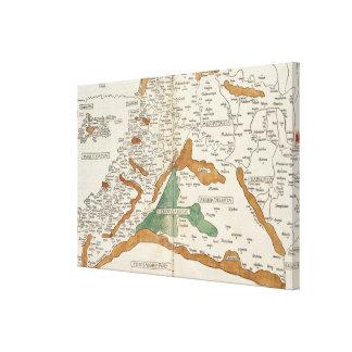 Vintage Map of Mesopotamia (1482) Canvas Print