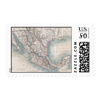 Vintage Map of Mexico (1851) Postage
