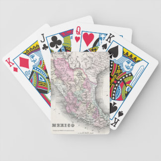 Vintage Map of Mexico (1855) Bicycle Playing Cards