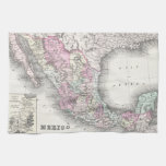 Vintage Map of Mexico (1855) Hand Towel