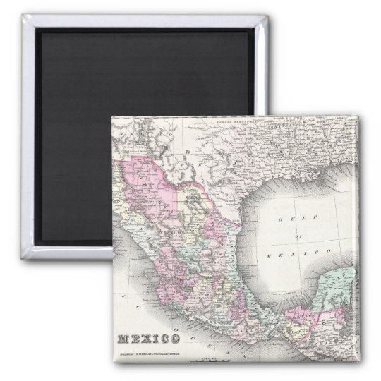 Vintage Map of Mexico (1855) Magnet