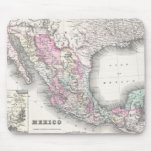 Vintage Map of Mexico (1855) Mouse Pad