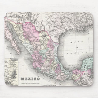 Vintage Map of Mexico (1855) Mousepad