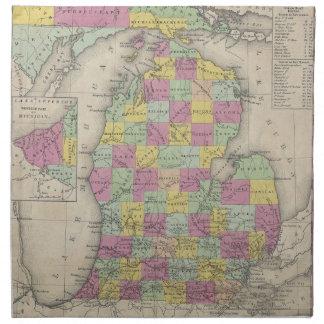 Vintage Map of Michigan (1853) Cloth Napkin