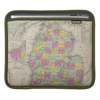 Vintage Map of Michigan (1853) iPad Sleeves