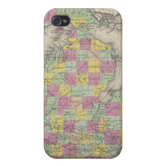 Vintage Map of Michigan (1853) iPhone 4 Case