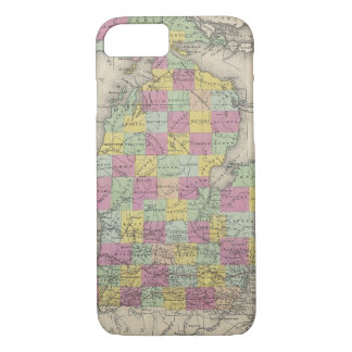 Vintage Map of Michigan (1853) iPhone 8/7 Case