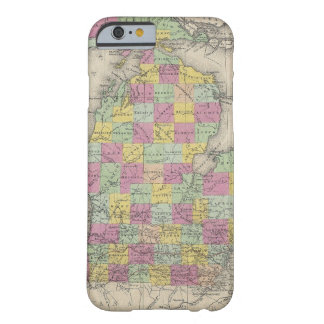 Vintage Map of Michigan 1853 iPhone 6 Case