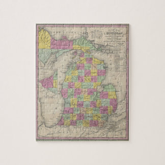 Vintage Map of Michigan (1853) Jigsaw Puzzle