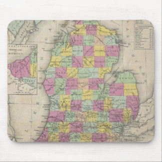 Vintage Map of Michigan (1853) Mouse Pad
