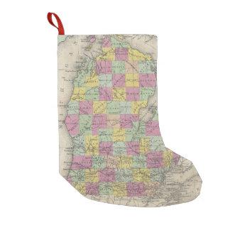 Vintage Map of Michigan (1853) Small Christmas Stocking