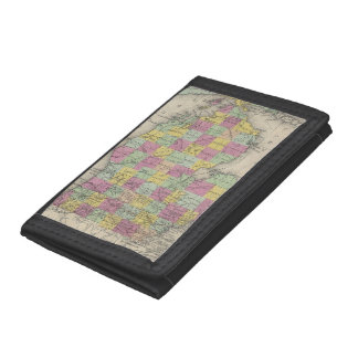 Vintage Map of Michigan (1853) Trifold Wallets