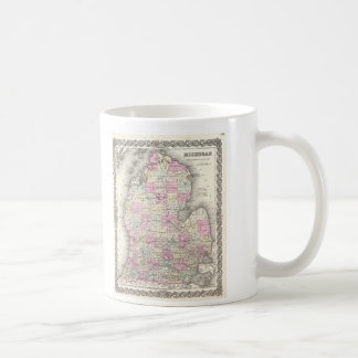 Vintage Map of Michigan (1855) Coffee Mug