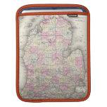 Vintage Map of Michigan (1855) iPad Sleeves