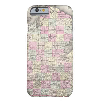 Vintage Map of Michigan (1855) iPhone 6 Case
