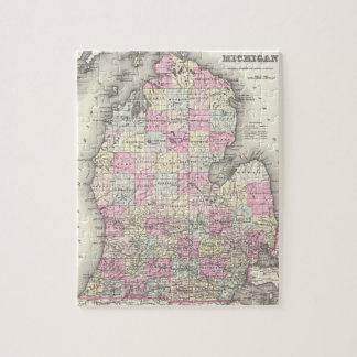 Vintage Map of Michigan (1855) Jigsaw Puzzle