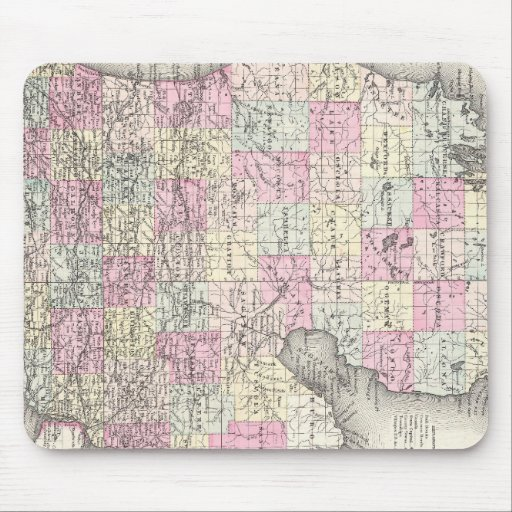 Vintage Map of Michigan (1855) Mouse Pad