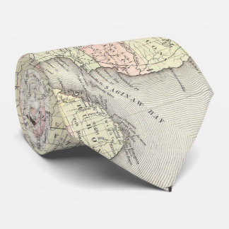 Vintage Map of Michigan & Wisconsin (1862) Neck Tie
